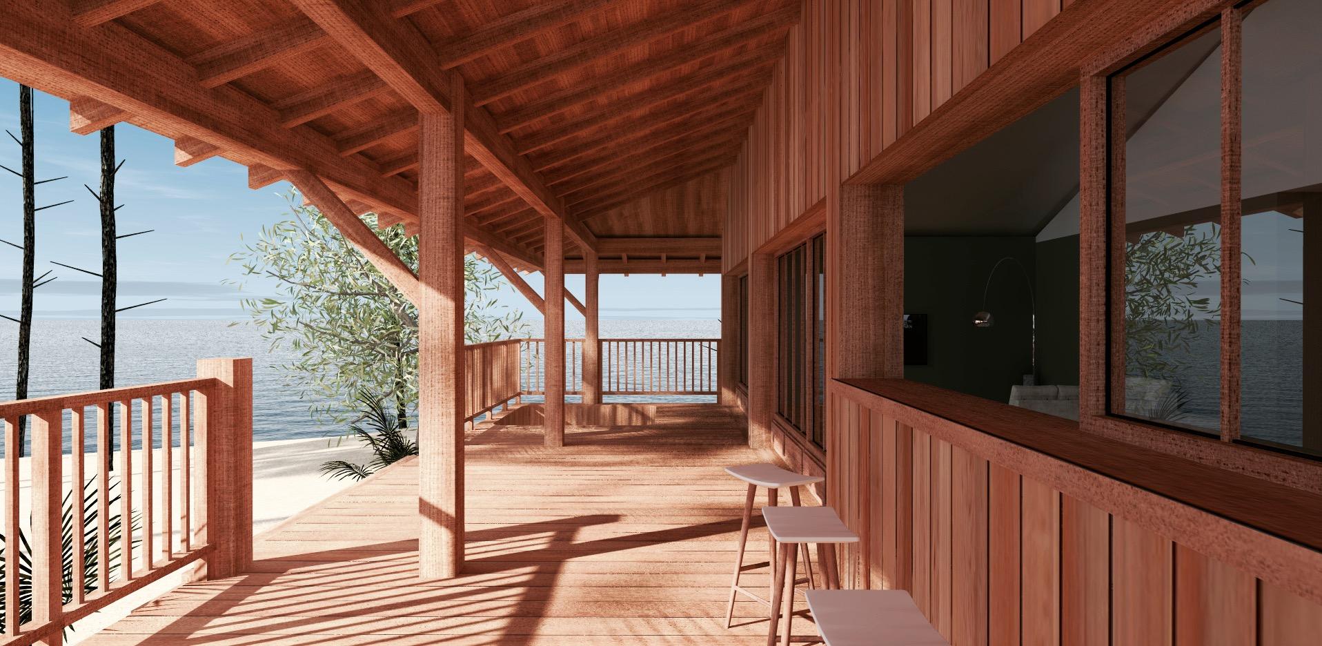 Construire Une Terrasse En Bois Surelevee construction d'une cabane bois sur pilotis a sanguinet 40
